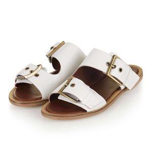 Topshop Franco Double Buckle Slider Sandals